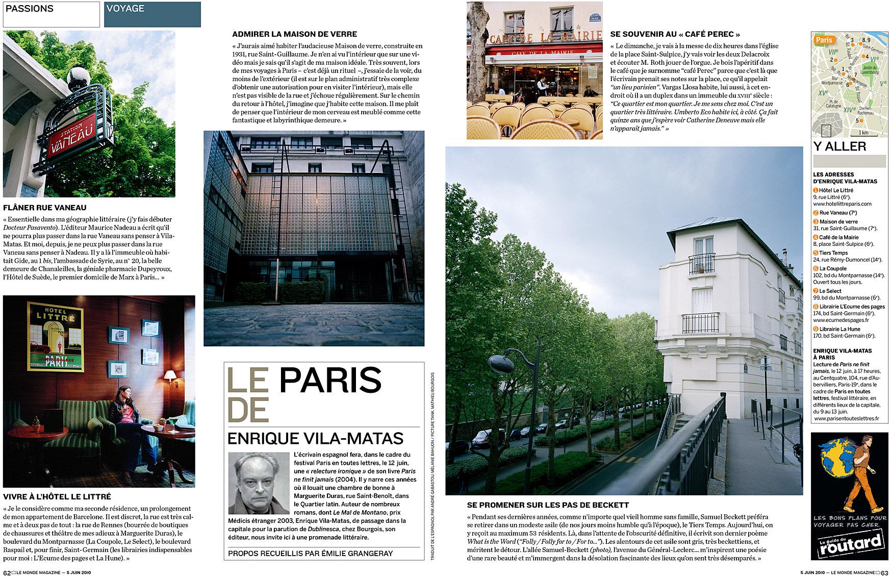 Le Monde Magazine du 5 juin 2010.