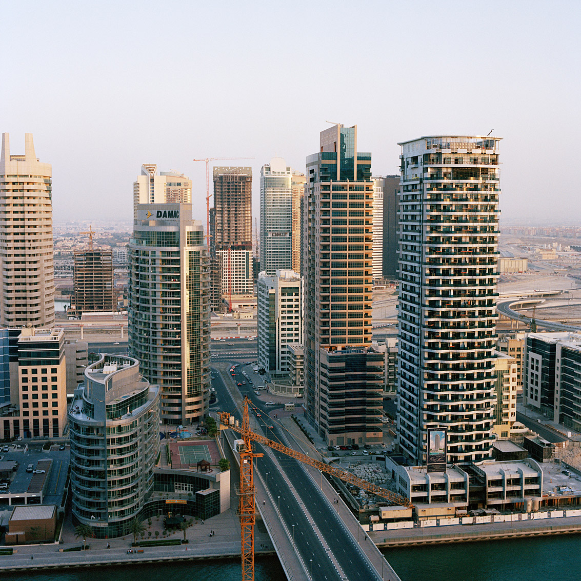 Quartier de la marina de Dubaï.