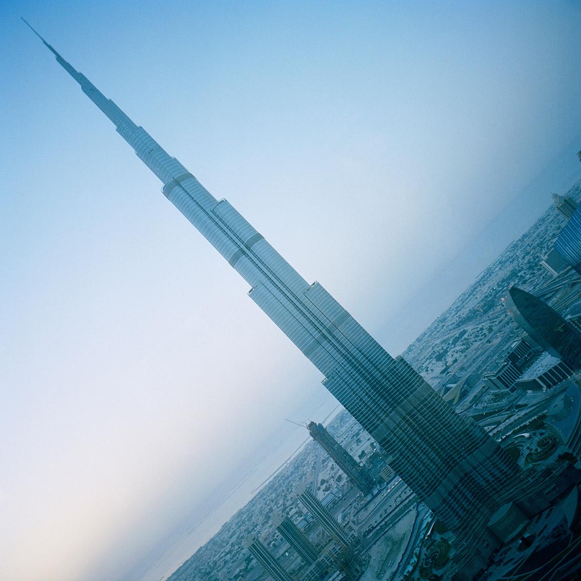 De plus de 800 mètres, Burj Khalifa est la tour la plus haute du monde; Dubaï.