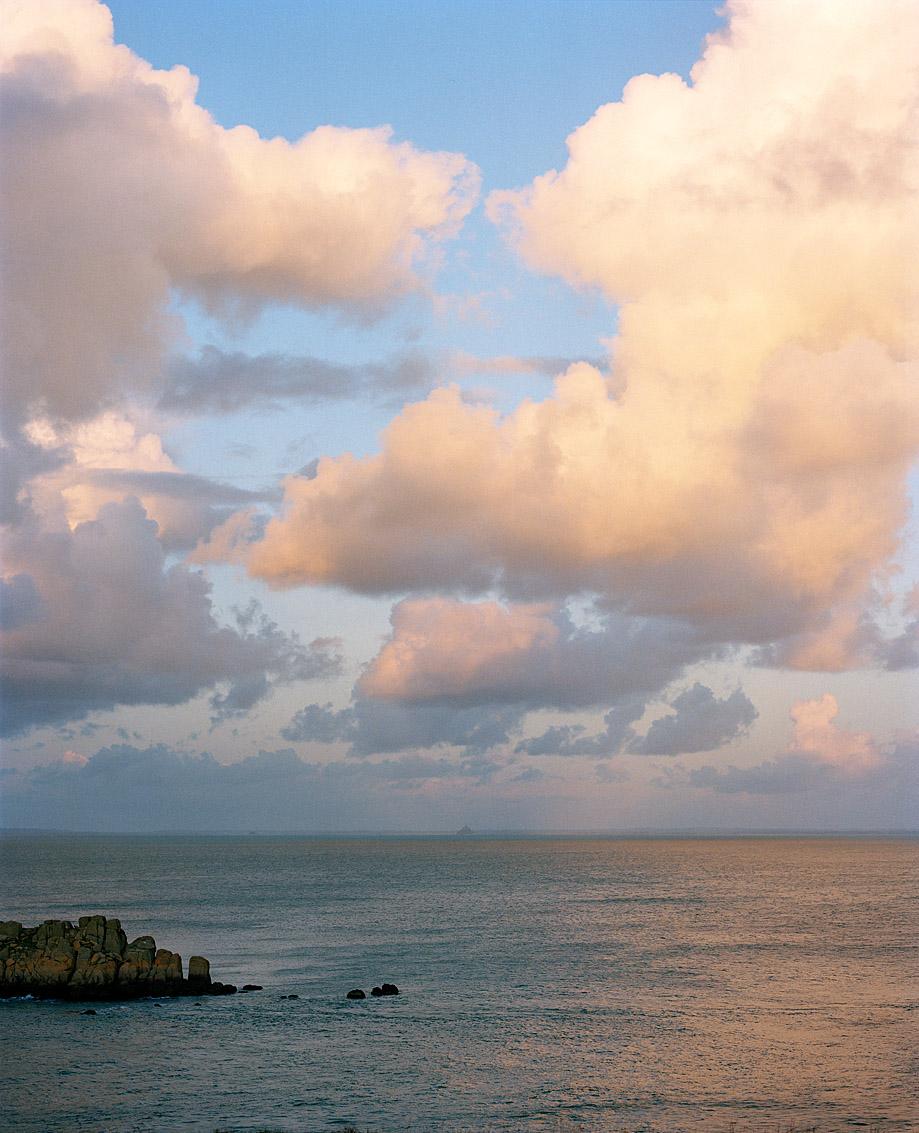 La baie du Mont Saint Michel depuis la Pointe du Grouin en Ile et Vilaine.