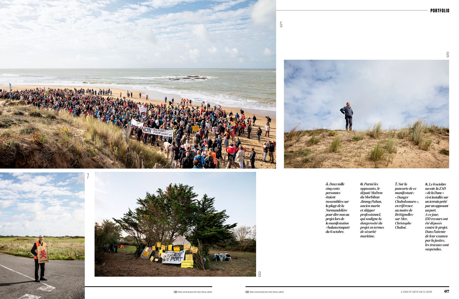 Peur sur la dune, #balancetonport, Brétignolles-sur-Mer, L'Obs du 28 novembre 2019