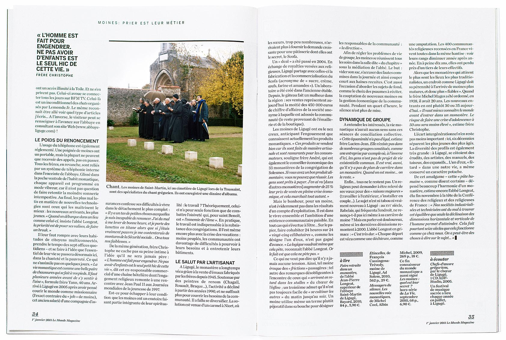 Le Monde Magazine du 1 janvier 2011.