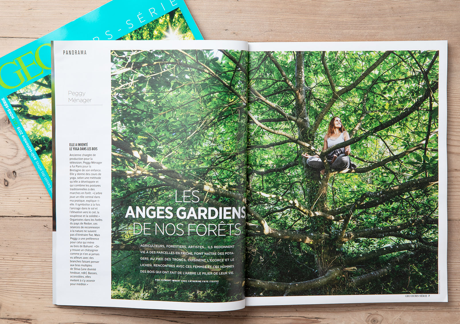 """Peggy Ménager, Géo Hors-Série août-septembre 2019 """"Pourquoi avons-nous tant besoin des arbres"""""""