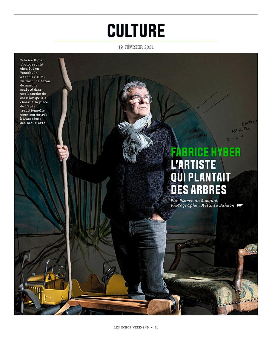 Fabrice Hyber pour les Echos Weekend du 19 février 2021