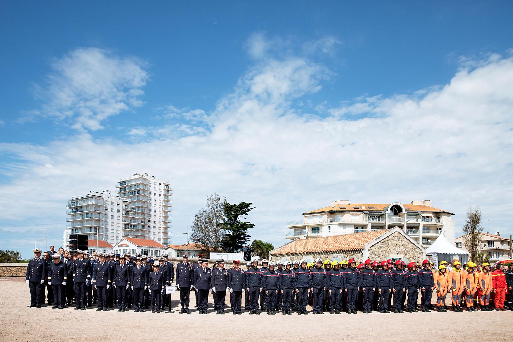 Les Sables d'Olonne, le 13 juin 2019. Hommage national aux sauveteurs du canot Jack Morisseau.