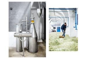 Usine de distillation et d'extraction de la fleur d'oranger à Nabeul.