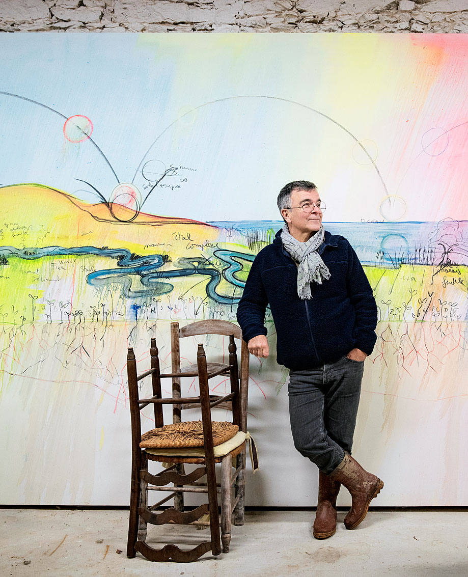 Fabrice Hyber, artiste plasticien, académie des beaux arts, Vendée.