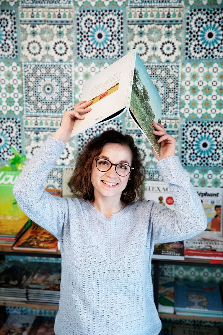 Jessica Viaud, libraire, Les Fringales Littéraires aux Herbiers.