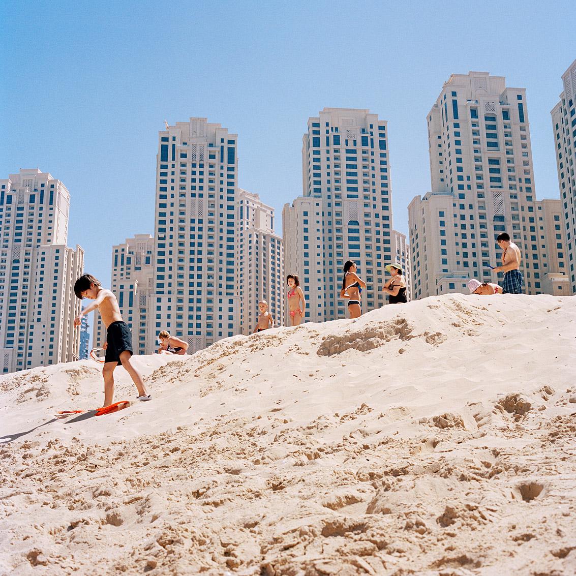 Plage de la Jumeirah Beach Residence; Dubaï.