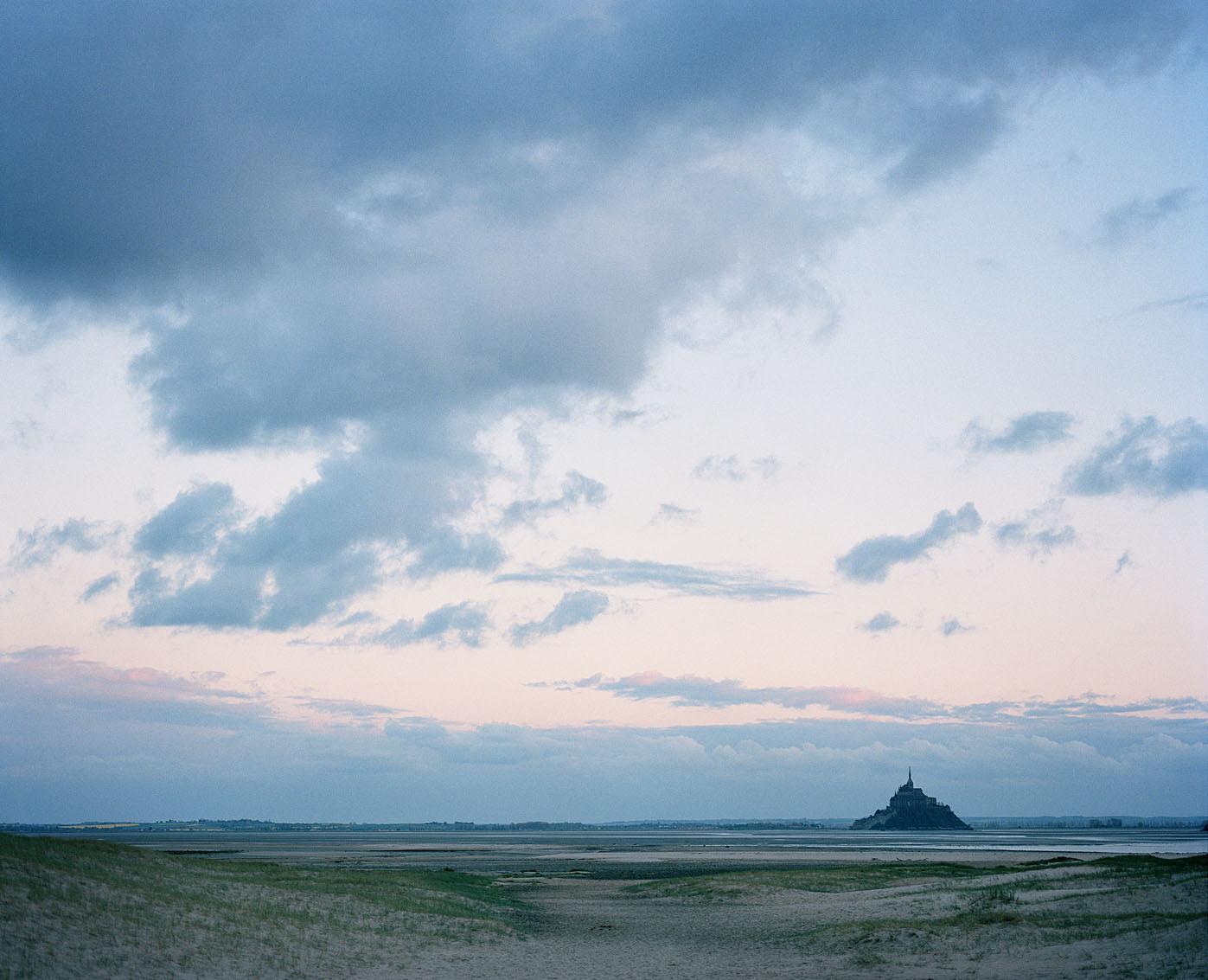 La baie du Mont Saint-Michel, la Manche.