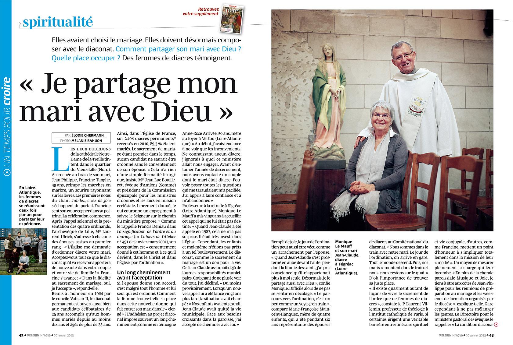 Pèlerin du 9 janvier 2013.