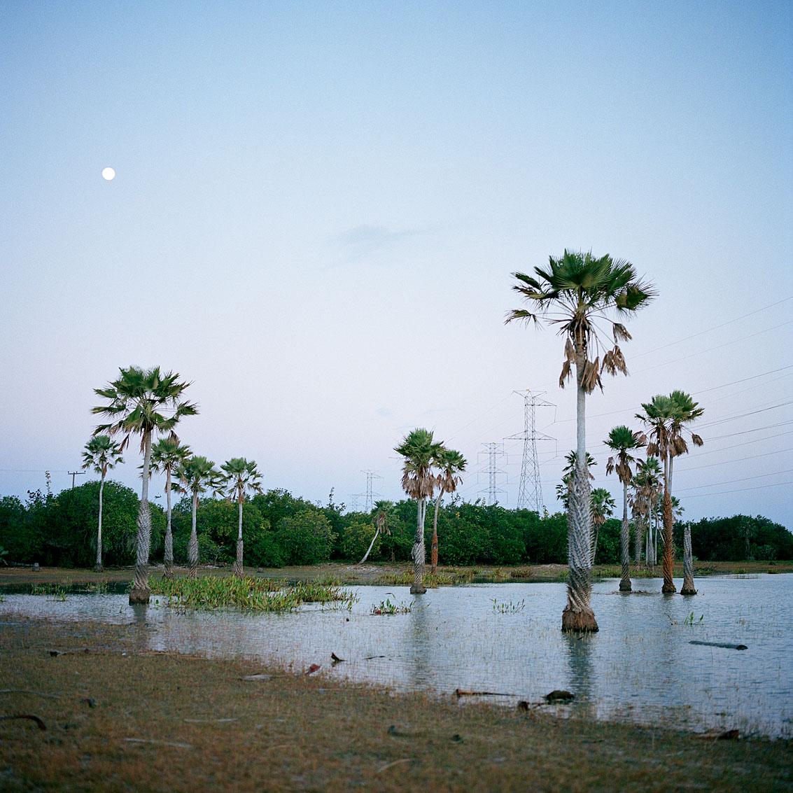 Plan d'eau Lagamar Gererau, région de Fortaleza.