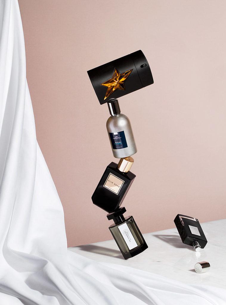 prise de vue en studio aux sables d'olonne de parfums luxe