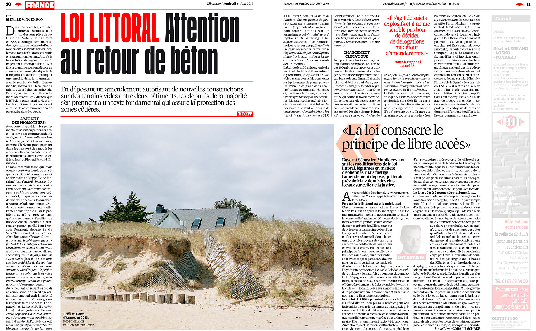 Libération du 1er juin 2018.