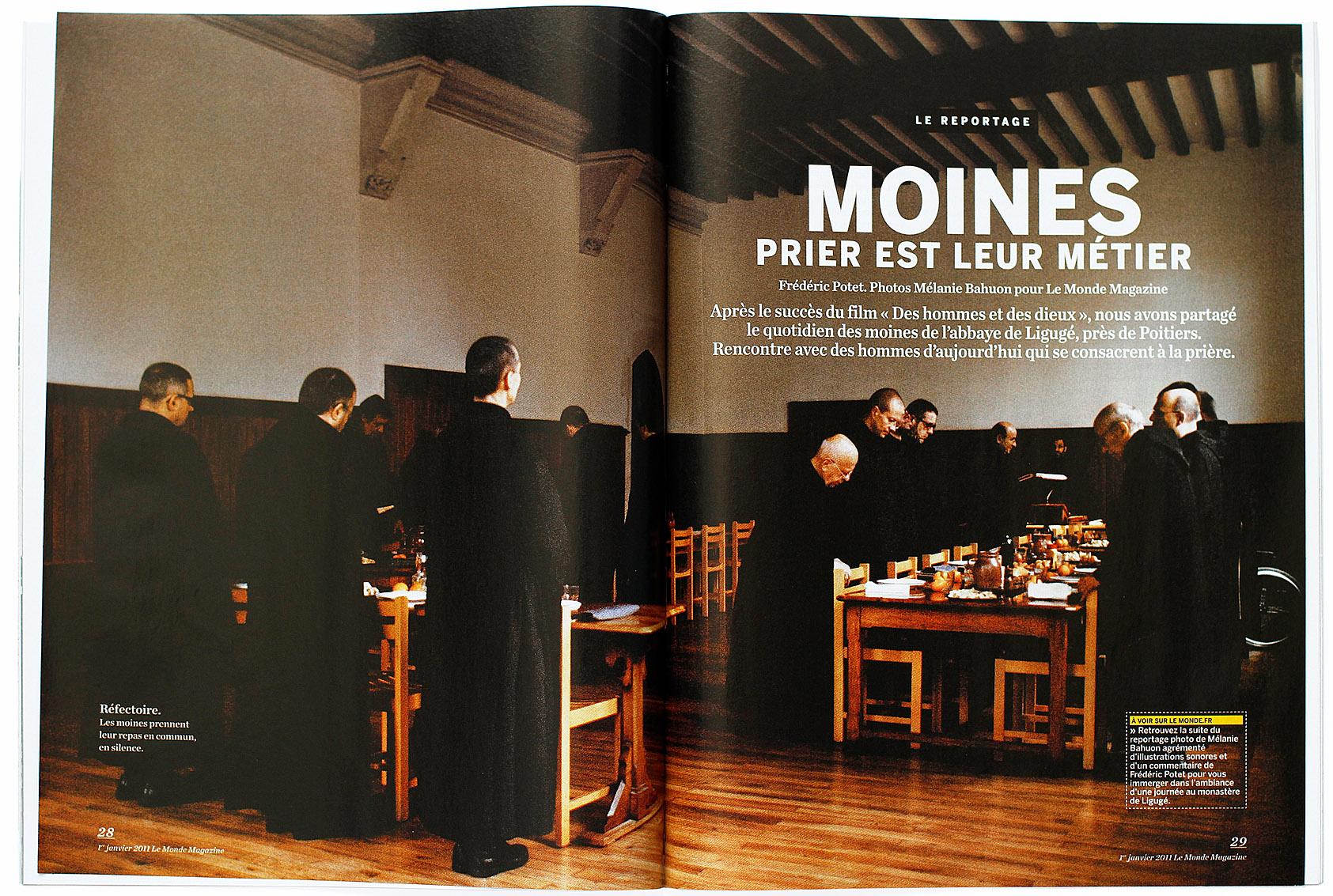 Abbaye de Ligugé, Le Monde Magazine du 1 janvier 2011