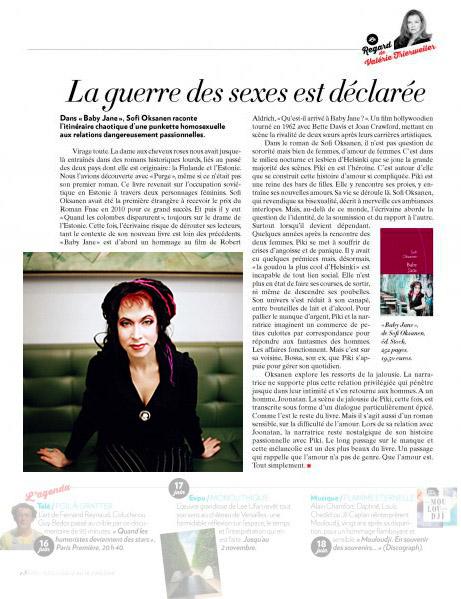 Sofi Oksanen, Paris Match #3395
