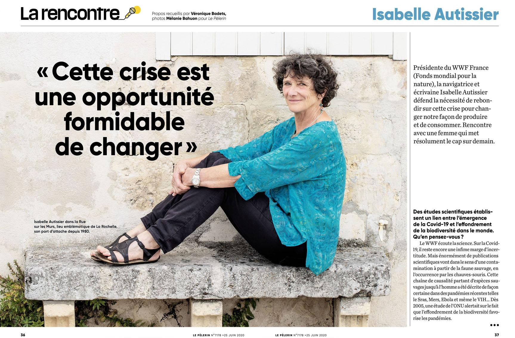 Isabelle Autissier pour Pèlerin du 25 juin 2020