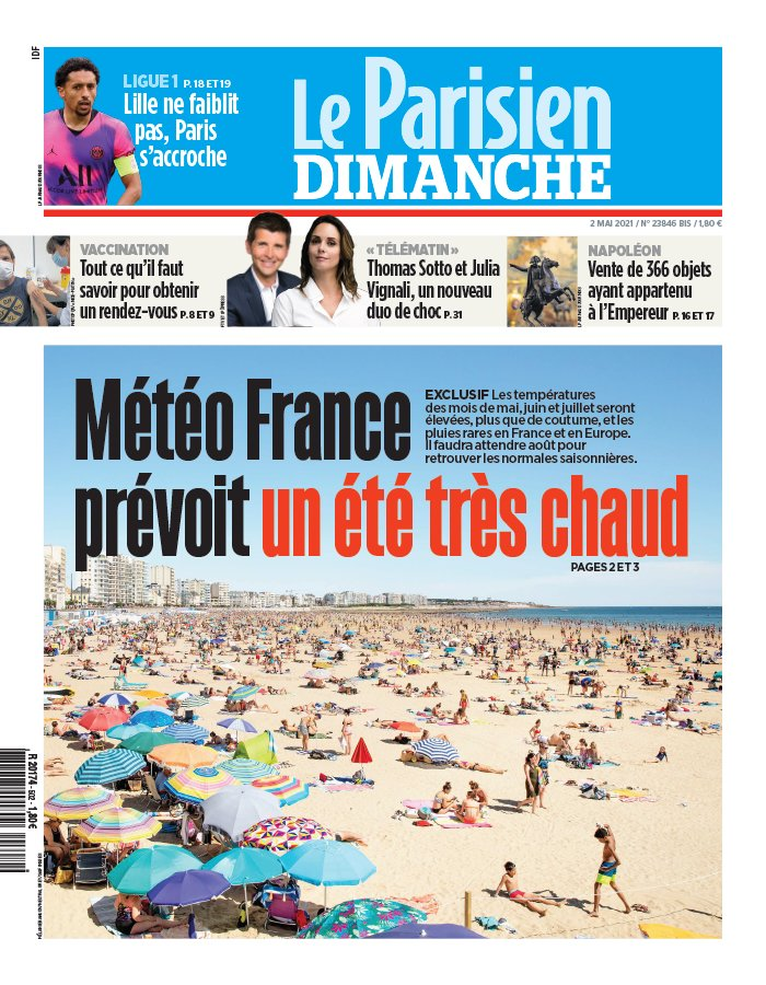 Le Parisien / Aujourd'hui en France du 2 mai 2021