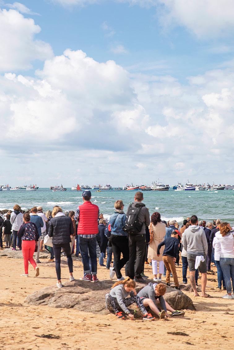 Les Sables d'Olonne, le 10 juin 2019. Marche blanche en hommage aux sauveteurs du canot Jack Morisseau.